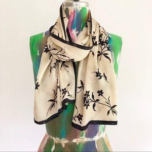 🖤 Asian Print Silk Scarf